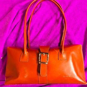 Handbag Italian Leather, Camel color.